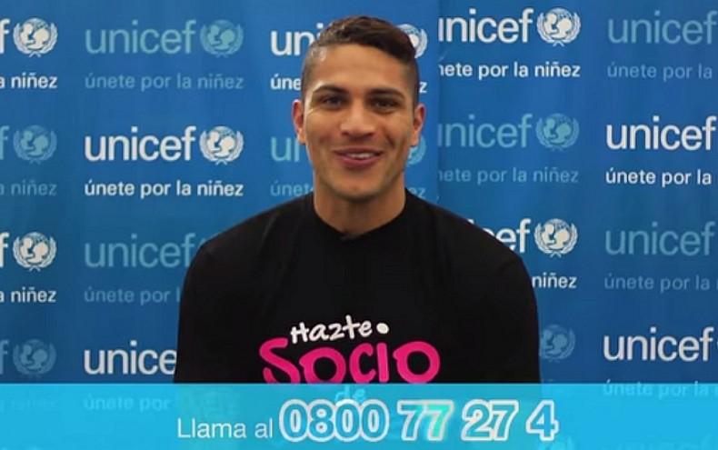Paolo Guerrero apoya la campaña 'Buena Onda' de Unicef