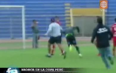 Copa Perú: tremenda batalla campal se armó en el Bolognesi vs. Huracán