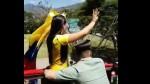 Mariana Pajón y la 'cariñosa' protección que recibió de policía colombiano - Noticias de mariana pajon