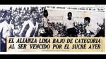 Alianza Lima: se cumplen 78 años de su descenso a Segunda División - Noticias de luis tejada