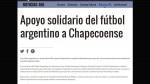 Chapecoense: clubes argentinos cederán jugadores al equipo brasileño - Noticias de copa federación