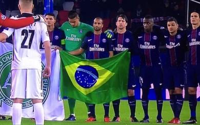 Chapecoense: el homenaje de los brasileños del PSG a las víctimas