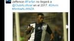 Jefferson Farfán: sponsor anunció que no jugará en Alianza Lima en 2017 - Noticias de estadio alejandro villanueva