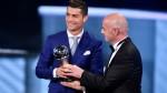 Cristiano Ronaldo: así recibió el premio The Best FIFA 2016 - Noticias de gala rodriguez