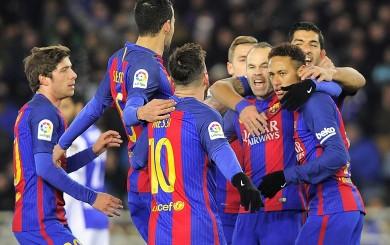 Barcelona venció 1-0 a la Real por la ida de cuartos de Copa del Rey