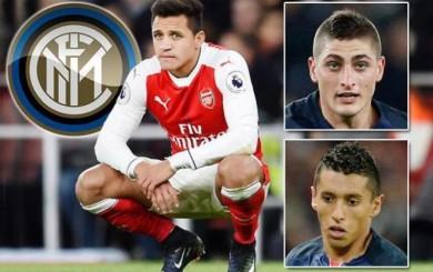 Alexis Sánchez, Marquinhos y Verratti, los objetivos del Inter de Milán