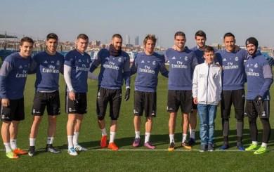 Real Madrid: 'niño ángel' de Chapecoense conoció a James y a sus ídolos