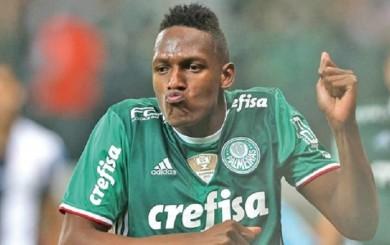 Palmeiras aplazó hasta 2018 prioridad de venta de Yerry Mina al Barcelona
