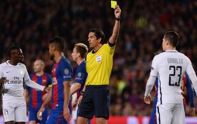 UEFA no suspenderá al árbitro que dirigió el Barcelona-PSG