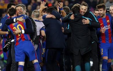 UEFA multó al Barcelona por invasión de campo tras partido con PSG