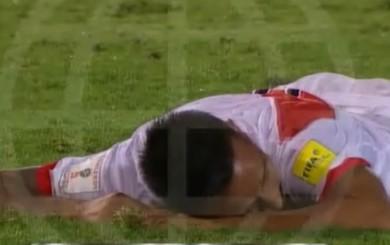 Christian Cueva: el gol que falló ante Venezuela a ras de cancha