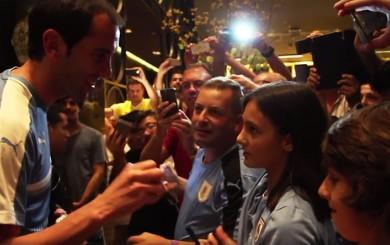 Uruguay arribó a Lima: así fue recibida la 'Celeste' por sus hinchas