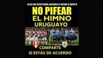 Perú y la campaña de los hinchas para respetar el himno de Uruguay - Noticias de paolo guerrero