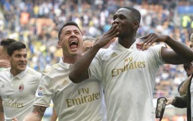 Milan igualó 2-2 con Inter con gol de Zapata a los 97 minutos