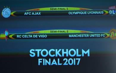 Europa League: Celta-Manchester United y Ajax-Lyon se medirán en 'semis'