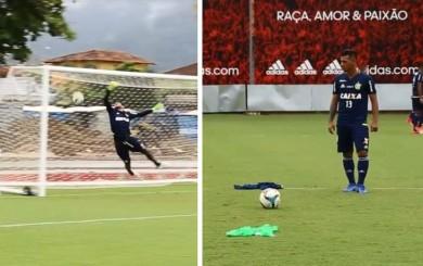 Miguel Trauco anotó golazos de tiro libre en práctica del Flamengo