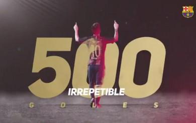 Ronaldinho felicitó a Messi por su gol 500 con Barcelona