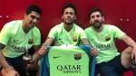 Neymar se unió a sus compañeros e imitó el festejo de Messi - Noticias de neymar en barcelona
