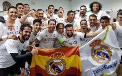 Real Madrid: así fue la íntima celebración en el vestuario del Calderón