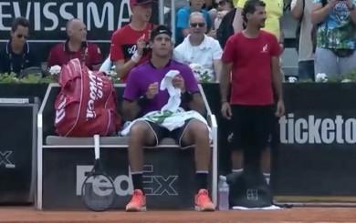 Del Potro bailó al ritmo de 'Despacito' en pleno partido del Masters de Roma
