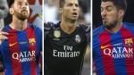 UEFA: Messi, Suárez y Cristiano lideran su 11 ideal de La Liga 2016/17 - Noticias de yeray Álvarez