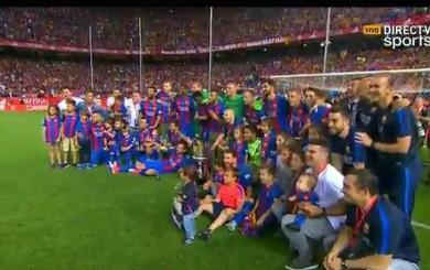 Lionel Messi: el divertido momento en que su hijo Mateo se escapa de la foto