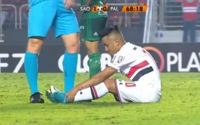 Christian Cueva salió lesionado en triunfo de Sao Paulo sobre Palmeiras