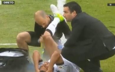 Paolo Hurtado se lesionó jugando la final de la Copa de Portugal