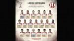 Universitario: Vargas entró a la lista de convocados para duelo ante Alianza - Noticias de juan ma