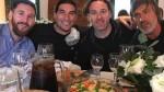 Lionel Messi se juntó con Pinto y Gabi Milito a un día de su boda en Rosario - Noticias de pepe costa