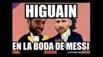 Boda de Messi: Gonzalo Higuaín protagoniza los divertidos memes - Noticias de gonzalo higuain