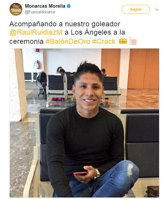 Raúl Ruidíaz nombrado jugador del año de la Liga MX