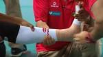 Ángela Leyva se lesionó en el calentamiento y rompió en llanto - Noticias de angela leyva