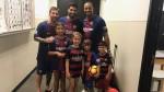 Lionel Messi y Luis Suárez cumplieron el sueño de Tiger Woods y sus hijos - Noticias de tiger woods