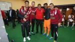 Selección peruana: así festejaron los jugadores en el camerino en Quito - Noticias de enner valencia